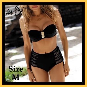 Other - BNWT- Black Pineapple 2 Piece Swimsuit